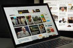 Mailand, Italien - 10. August 2017: Ndtv-Websitehomepage Es ist Lizenzfreie Stockfotografie