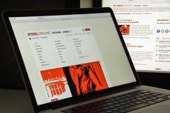 Mailand, Italien - 10. August 2017: Spiegel-Websitehomepage ist ein Lizenzfreie Stockbilder