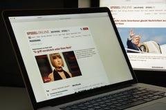 Mailand, Italien - 10. August 2017: Spiegel-Websitehomepage ist ein Lizenzfreies Stockfoto