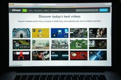 Mailand, Italien - 10. August 2017: Vimeo-Websitehomepage Es ist a Lizenzfreie Stockbilder