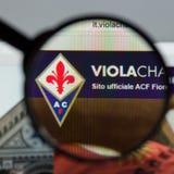 Mailand, Italien - 10. August 2017: Websitehomepage ACF Fiorentina Stockbilder