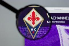 Mailand, Italien - 10. August 2017: Websitehomepage ACF Fiorentina Lizenzfreie Stockbilder