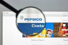 Mailand, Italien - 10. August 2017: Websitehomepage Pepsis Co Es ist stockfoto