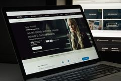 Mailand, Italien - 10. August 2017: Xfinity-Websitehomepage Es ist Lizenzfreie Stockfotos