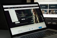 Mailand, Italien - 10. August 2017: Xfinity-Websitehomepage Es ist Stockfotos