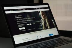 Mailand, Italien - 10. August 2017: Xfinity-Websitehomepage Es ist Stockfoto