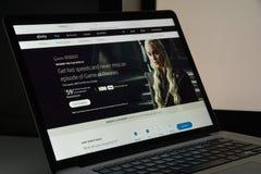 Mailand, Italien - 10. August 2017: Xfinity-Websitehomepage Es ist Lizenzfreies Stockbild
