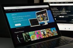 Mailand, Italien - 10. August 2017: Xfinity-Websitehomepage Es ist Lizenzfreie Stockfotografie