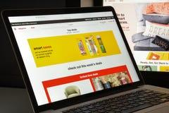 Mailand, Italien - 10. August 2017: Ziel COM-Websitehomepage ta Lizenzfreies Stockfoto