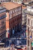 """MAILAND, ITALIEN AM 27. MÄRZ 2015: """"Palazzo-della Ragione"""" in Mercanti-Straße von der Duomodachterrasse Lizenzfreies Stockbild"""