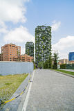 MAILAND, ITALIEN - 28. MAI 2017: Bosco Verticale Vertical Forest L Lizenzfreies Stockbild