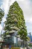 MAILAND, ITALIEN - 28. MAI 2017: Bosco Verticale Vertical Forest L Lizenzfreies Stockfoto