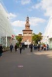 MAILAND, ITALIEN - 13. MAI: Zeichen Ausstellungs-Flugsteig 2015, am 8. Oktober 2015 ich Lizenzfreie Stockbilder