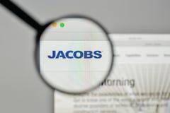 Mailand, Italien - 1. November 2017: Jacobs Engineering Group-Logo O Lizenzfreie Stockbilder