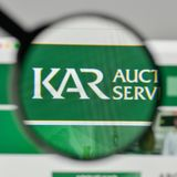Mailand, Italien - 1. November 2017: Kar Auction Services-Logo auf Th stockfotos