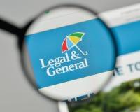 Mailand, Italien - 1. November 2017: Legales u. Generals Group Logo auf t Stockbild