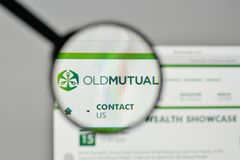 Mailand, Italien - 1. November 2017: Old Mutual-Logo auf der Website Lizenzfreie Stockbilder
