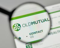 Mailand, Italien - 1. November 2017: Old Mutual-Logo auf der Website Lizenzfreies Stockbild