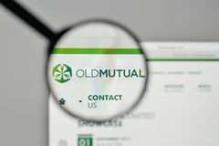 Mailand, Italien - 1. November 2017: Old Mutual-Logo auf der Website Stockfoto