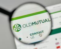 Mailand, Italien - 1. November 2017: Old Mutual-Logo auf der Website Lizenzfreies Stockfoto
