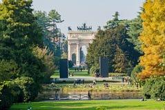Mailand, Italien - 19. Oktober 2015: Sempione-Park Lizenzfreie Stockbilder
