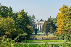 Mailand, Italien - 19. Oktober 2015: Sempione-Park Lizenzfreies Stockbild