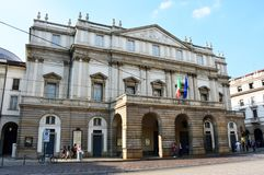 MAILAND, ITALIEN - 7. SEPTEMBER 2017: Teatro-alla Scala-Opernhaus, Mailand, Italien lizenzfreie stockfotos