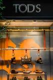 Mailand, Italien - 24. September 2017: Tod' s-Speicher in Mailand Fashio lizenzfreie stockbilder
