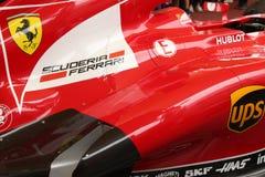 MAILAND - 19. SEPTEMBER 2015: Ferrari-Pavillon, Weltausstellung Ausstellung 2015 Lizenzfreie Stockfotografie