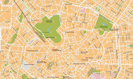 Mailand-Stadtvektorkarte Stockfoto