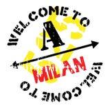 Mailand-Stempelgummischmutz Stockfotografie