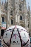 Mailand verficht Ligaschluß 2016 stockfotografie