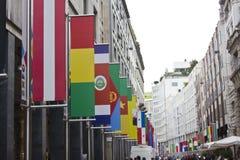 Mailand wartet auf die Ausstellung 2015 Lizenzfreie Stockbilder