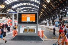 Mailand-zentraler Bahnhof Stockfoto