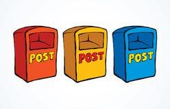 mailbox ανασκόπηση που σύρει το floral διάνυσμα χλόης απεικόνιση αποθεμάτων