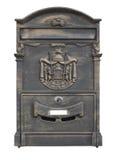 mailbox Απομονωμένος στο λευκό με το ψαλίδισμα του μονοπατιού στοκ εικόνες με δικαίωμα ελεύθερης χρήσης