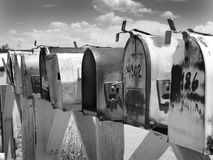 Mailbox. A mailbox along route 66 royalty free stock images
