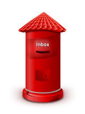 Mailbox. Red color Mailbox. Isolated on white background royalty free stock image