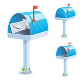 Mailbox. A standard blue mailbox - illustration stock illustration
