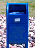 Mailbox. Blue drive-through postoffice mailbox Royalty Free Stock Photography