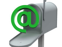 Mailbox. Mail box. 3d isolated object vector illustration