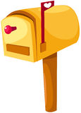 Mailbox. Illustration of isolated mailbox on white royalty free illustration