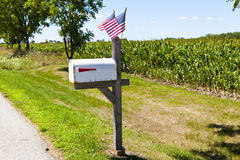 Mailbox. On american country with blue sky royalty free stock photos