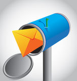 Mailbox. Abstraction which depicts a mailbox with a letter inside for various necessities Stock Image