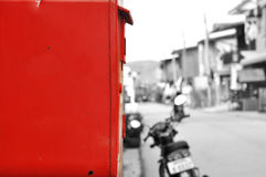Mailbox. Red mailbox at Chiang Khan, Loei, Thailand Royalty Free Stock Images