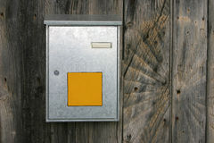 Mailbox. Blank mailbox with empty postal service logo field and owner name field stock image