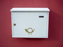 Mailbox. New white mailbox Royalty Free Stock Photography