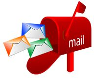 Mailbox. Abstract vector illustration of mailbox vector illustration