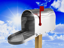 Mailbox. Fine 3d image of classic american metal mailbox Royalty Free Stock Photo