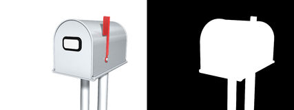 Mailbox with Alpha. 3D Royalty Free Stock Photography